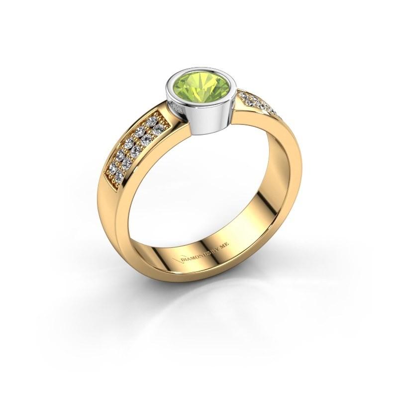 Verlovingsring Ise 3 585 goud peridoot 4.7 mm