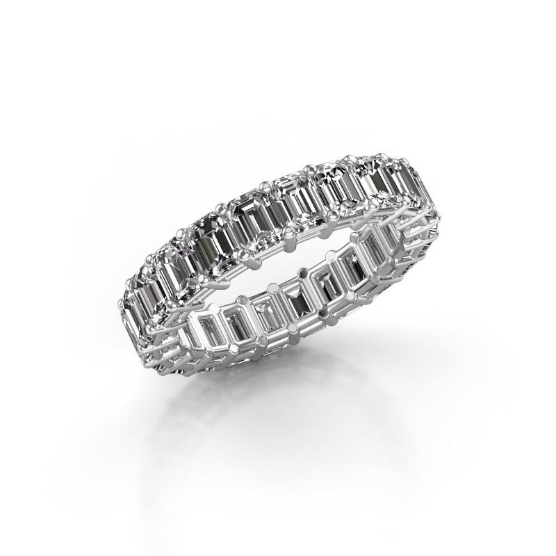 Ring Heddy EME 4x3 585 witgoud diamant 4.40 crt