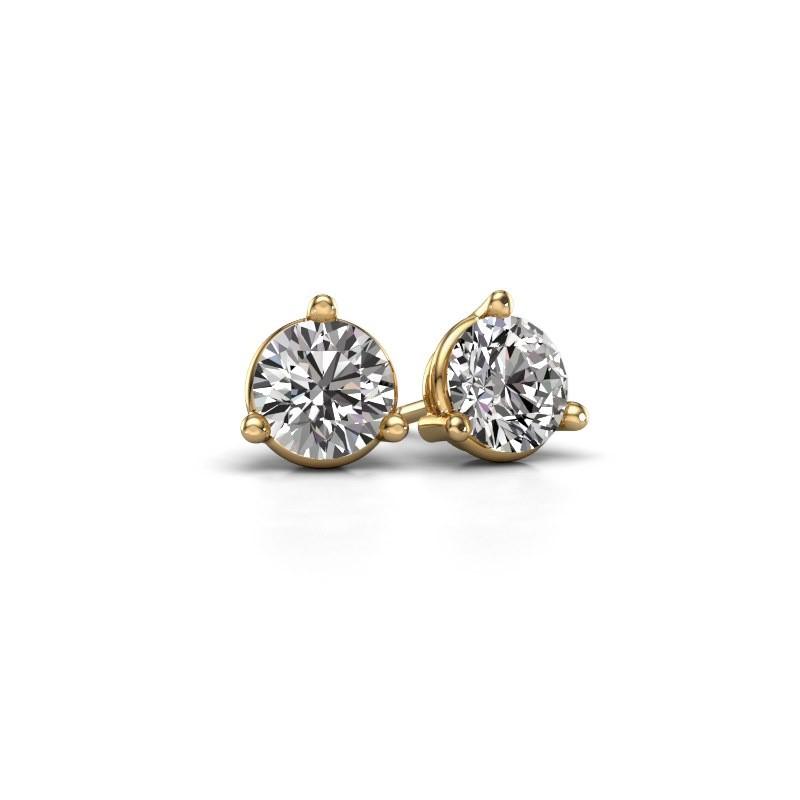 Oorstekers Somer 375 goud diamant 1.00 crt