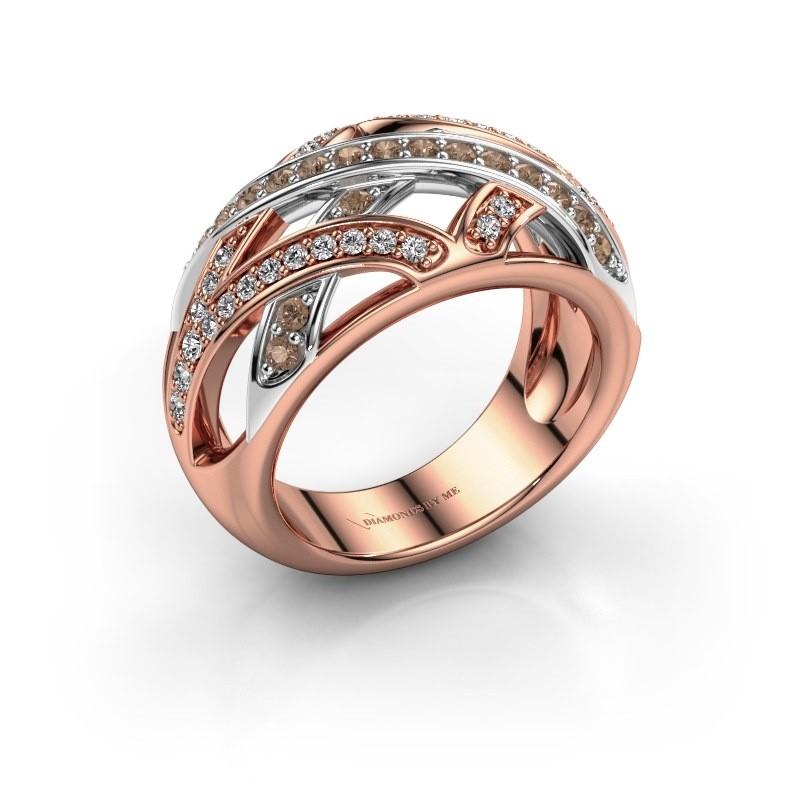 Ring Yinthe 585 rose gold brown diamond 0.60 crt