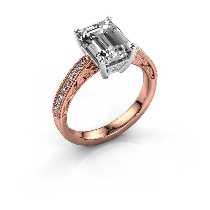 Engagement ring Shonta EME 585 rose gold diamond 1.28 crt