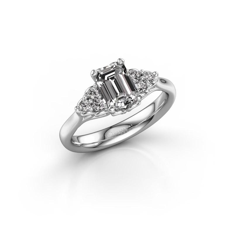 Aanzoeksring Myrna EME 585 witgoud lab-grown diamant 1.300 crt