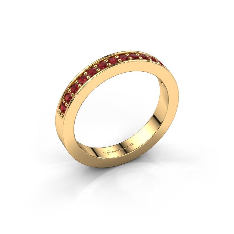 Aanschuifring Loes 6 585 goud robijn 1.7 mm