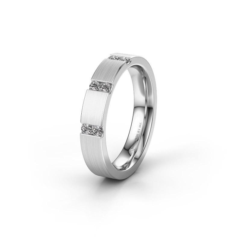 Wedding ring WH2133L14BM 925 silver zirconia ±4x2.2 mm