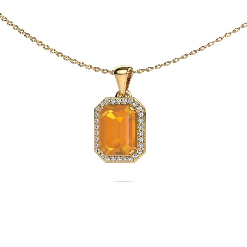 Ketting Dodie 375 goud citrien 9x7 mm