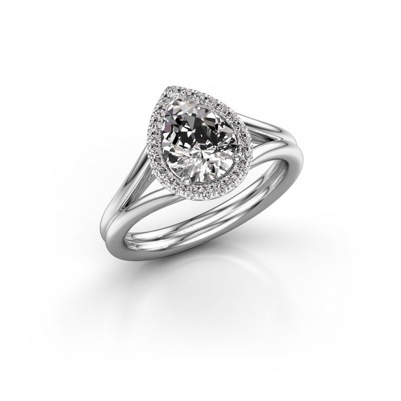 Verlovingsring Elenore 585 witgoud lab-grown diamant 1.097 crt