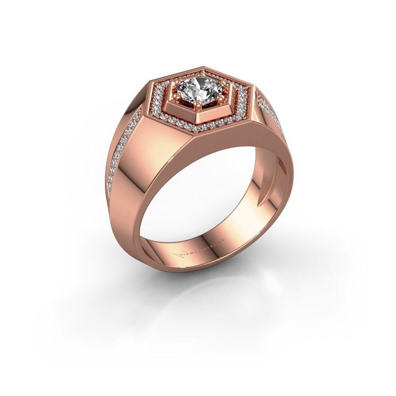 Men's ring Sjoerd 375 rose gold diamond 0.83 crt