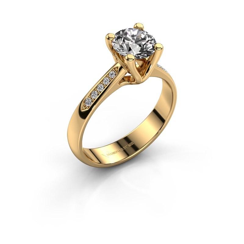 Promise ring Janna 2 375 goud diamant 1.00 crt