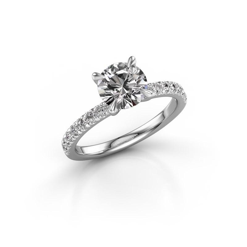 Verlovingsring Crystal rnd 2 950 platina diamant 0.43 crt