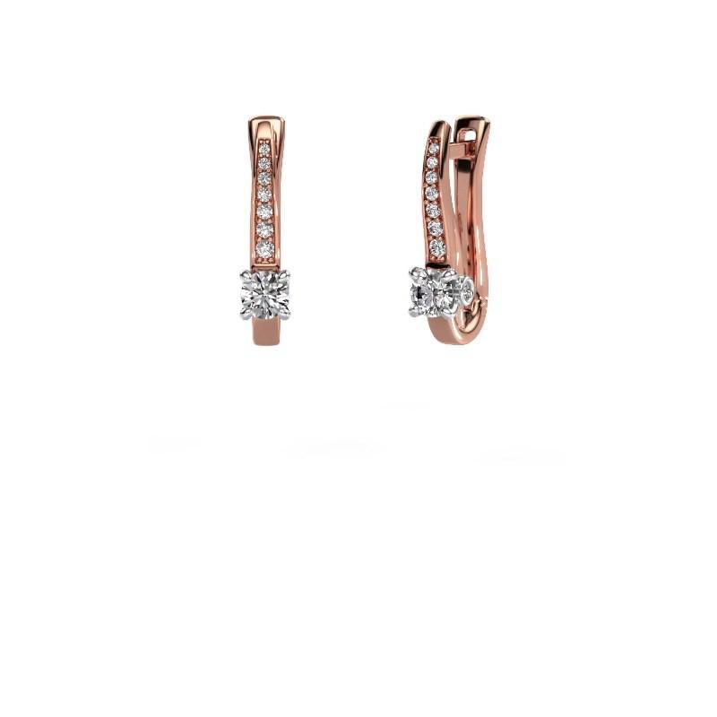 Ohrringe Valorie 585 Roségold Diamant 0.68 crt