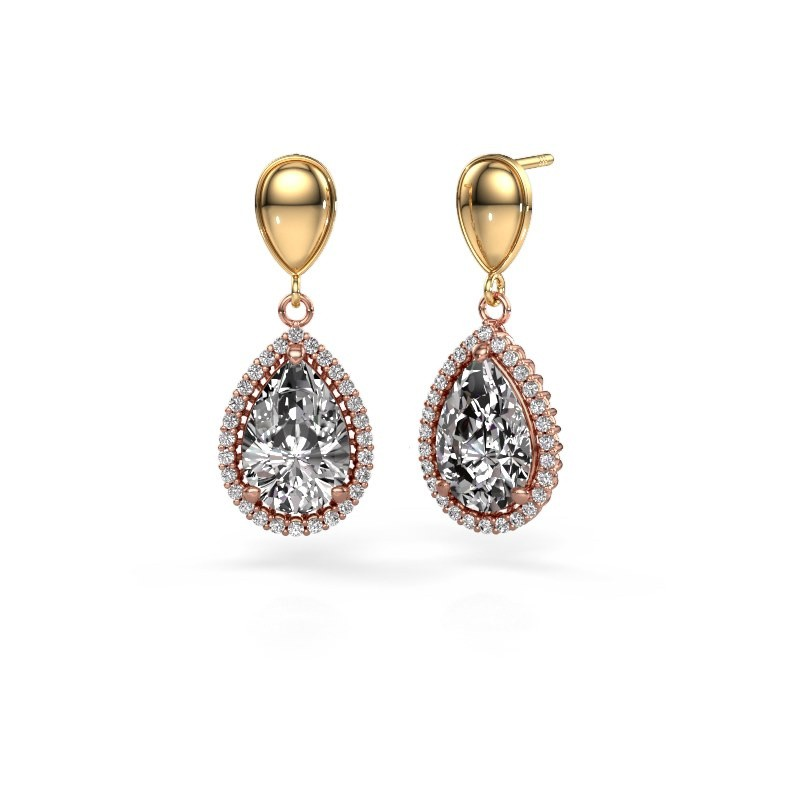 Pendants d'oreilles Tilly per 1 585 or rose diamant 6.42 crt