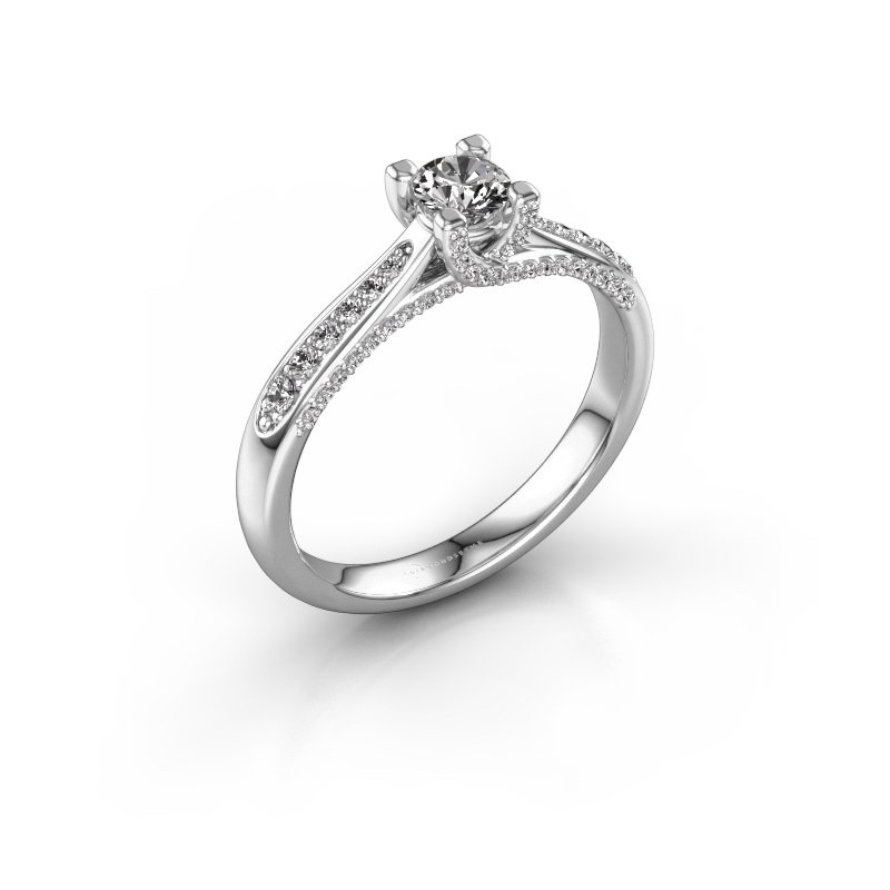 Verlovingsring Mia 3 925 zilver diamant 0.498 crt