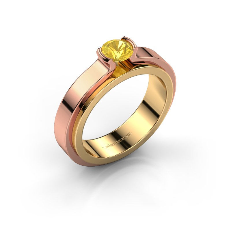 Verlobungsring Jacinda 585 Gold Gelb Saphir 4.7 mm