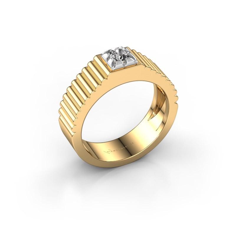 Pinky Ring Elias 585 Gold Diamant 0.25 crt