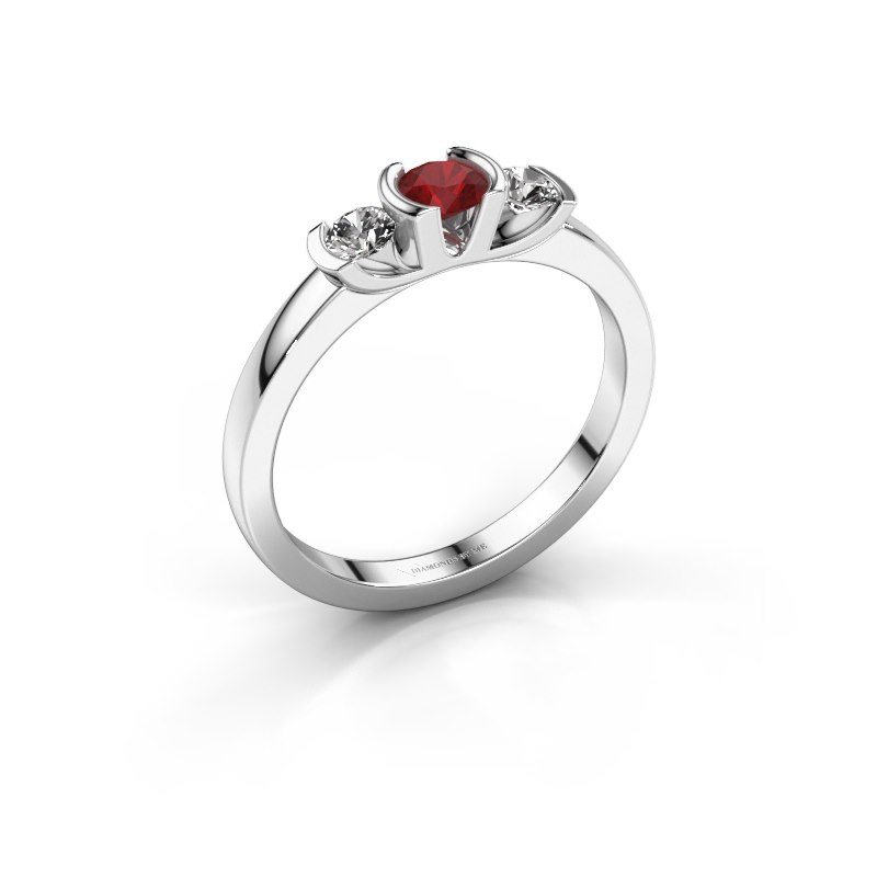 Ring Lucia 925 silver ruby 3.7 mm