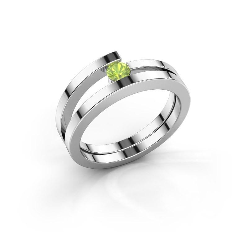 Ring Sandy 925 zilver peridoot 3.4 mm