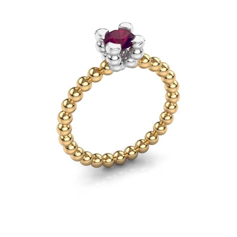 Ring Aurore 585 goud rhodoliet 5 mm