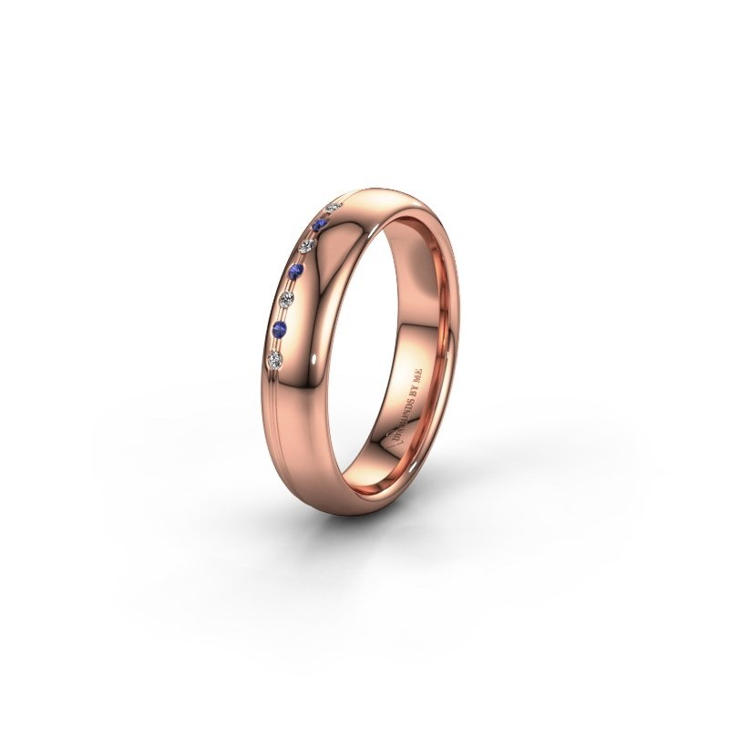 Friendship ring WH2144L34A 585 rose gold sapphire ±0.16x0.07 in