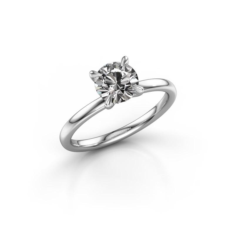 Verlovingsring Crystal RND 1 925 zilver diamant 1.00 crt