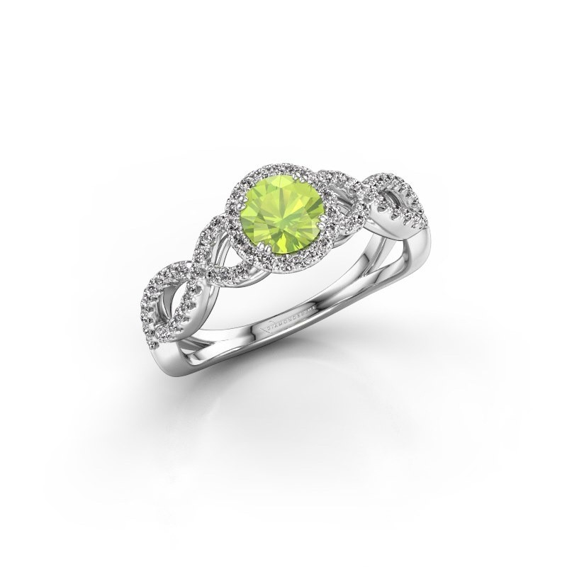 Engagement ring Dionne rnd 585 white gold peridot 5 mm