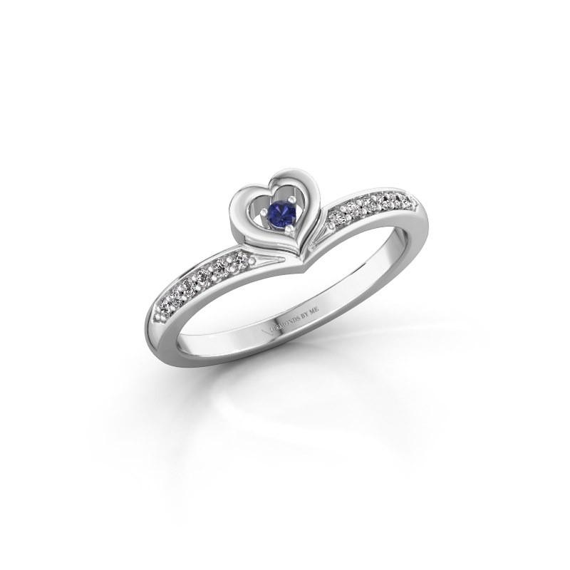 Ring Mimi 585 witgoud saffier 2 mm