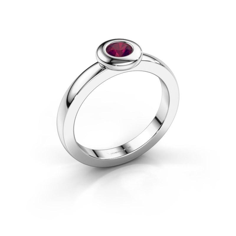 Ring Iris 925 silver rhodolite 4 mm