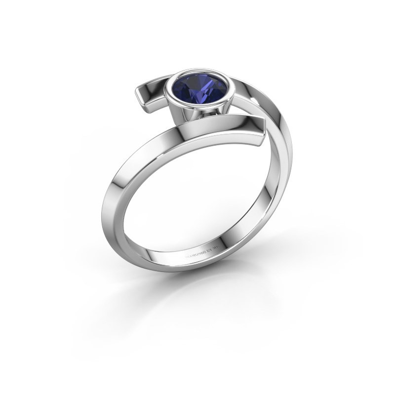 Ring Mara 925 zilver saffier 5 mm