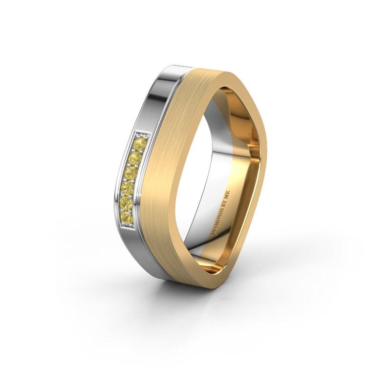 Ehering WH6030L16A 585 Weißgold Gelb Saphir ±6x1.7 mm