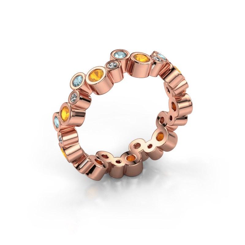 Ring Tessa 585 rosé goud citrien 2.5 mm