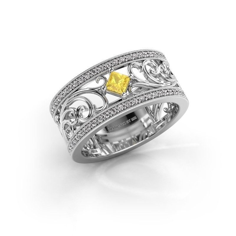 Ring Danae 585 white gold yellow sapphire 3 mm