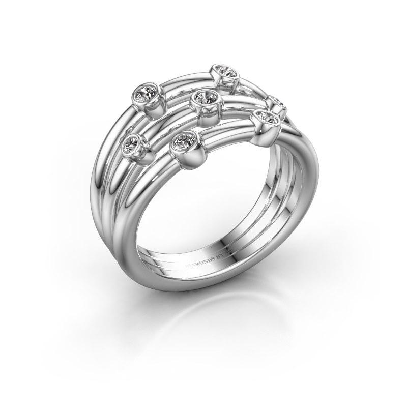 Bague Chloe 925 argent diamant synthétique 0.18 crt