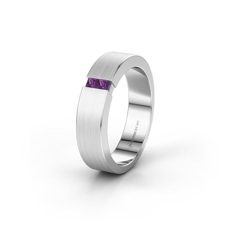 Wedding ring WH2136L15E 950 platinum amethyst ±5x2.6 mm