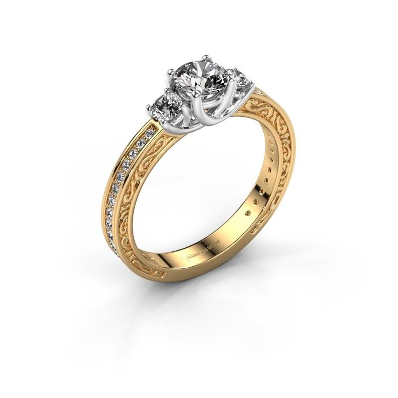 Verlovingsring Betty 2 585 goud zirkonia 5 mm