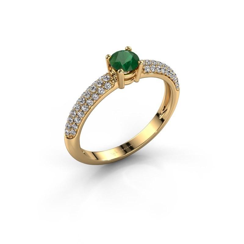 Verlovingsring Marjan 375 goud smaragd 4.2 mm