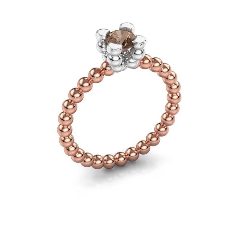 Ring Aurore 585 rosé goud bruine diamant 0.50 crt