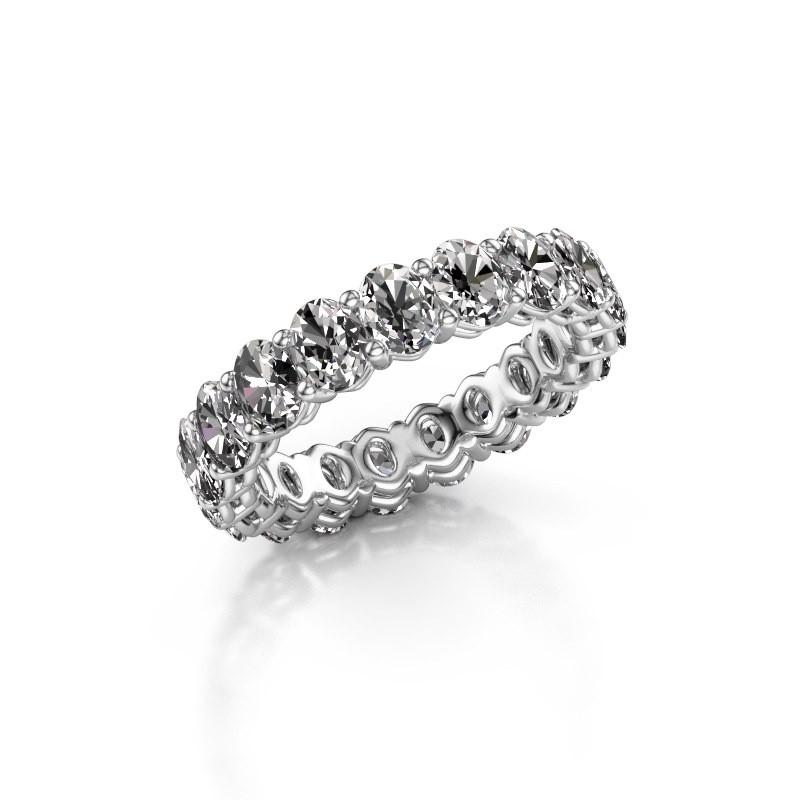 Aanschuifring Heddy OVL 3.5x4.5 950 platina diamant 3.990 crt