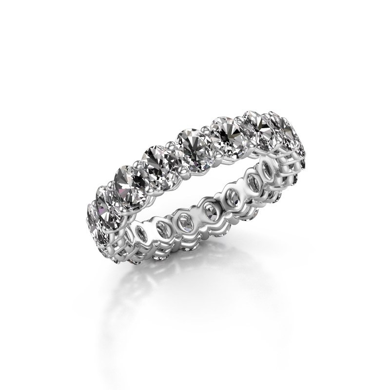 Vorsteckring Heddy OVL 3.5x4.5 950 Platin Diamant 3.990 crt