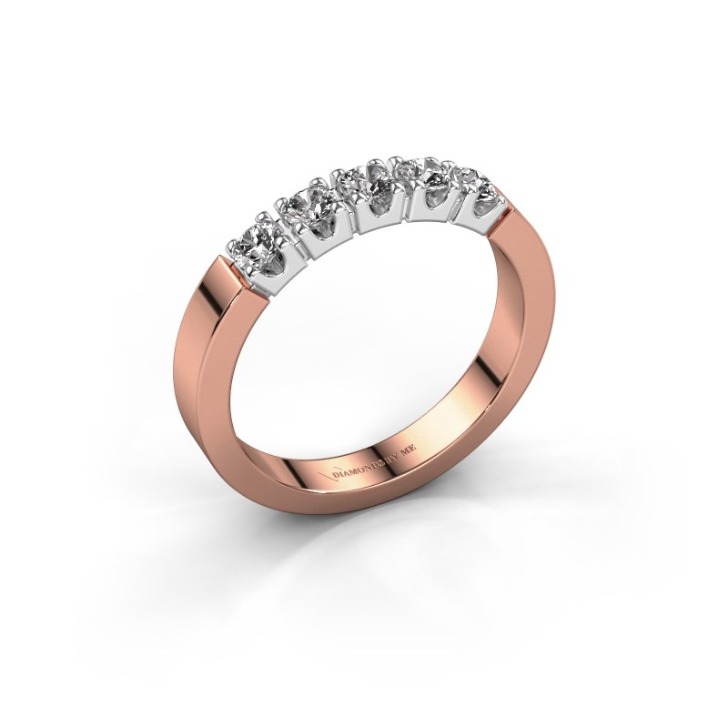 Engagement ring Dana 5 585 rose gold lab-grown diamond 0.50 crt