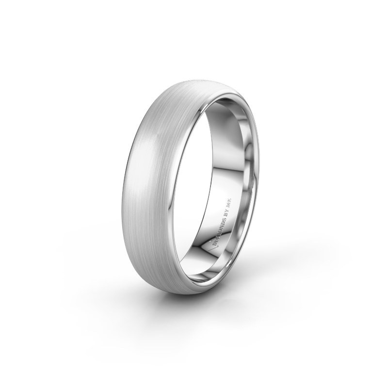 Wedding ring WH0100M36BM 585 white gold ±6x2 mm