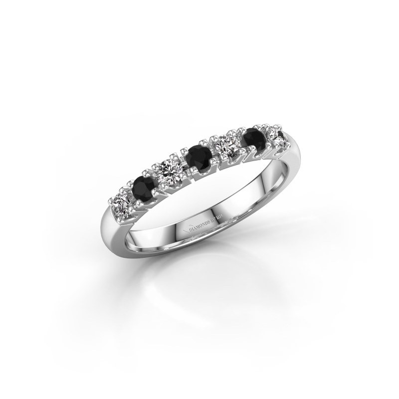 Engagement ring Rianne 7 950 platinum black diamond 0.418 crt