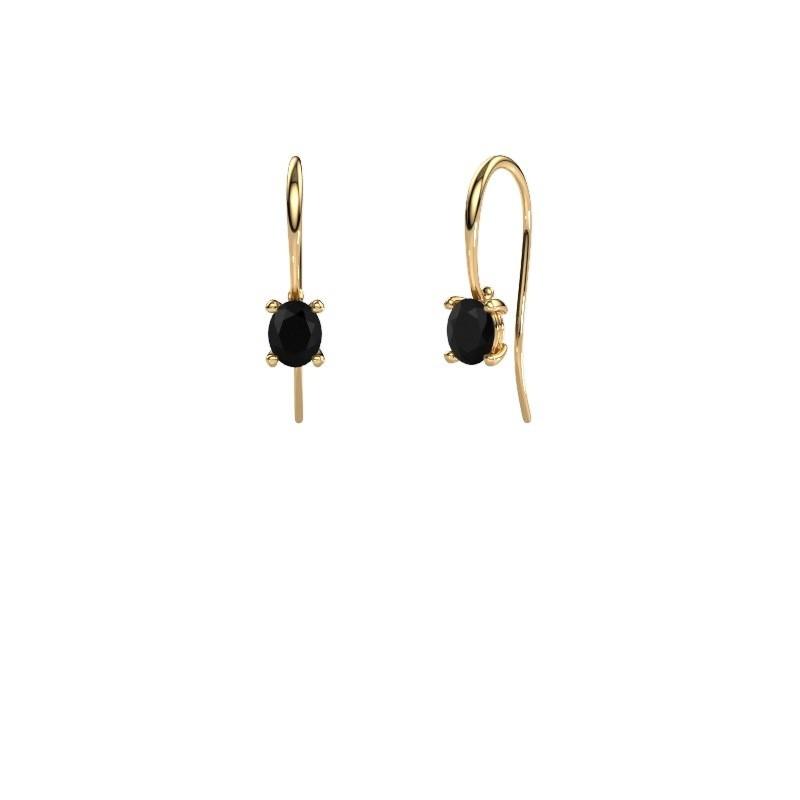 Oorhangers Cleo 585 goud zwarte diamant 1.20 crt