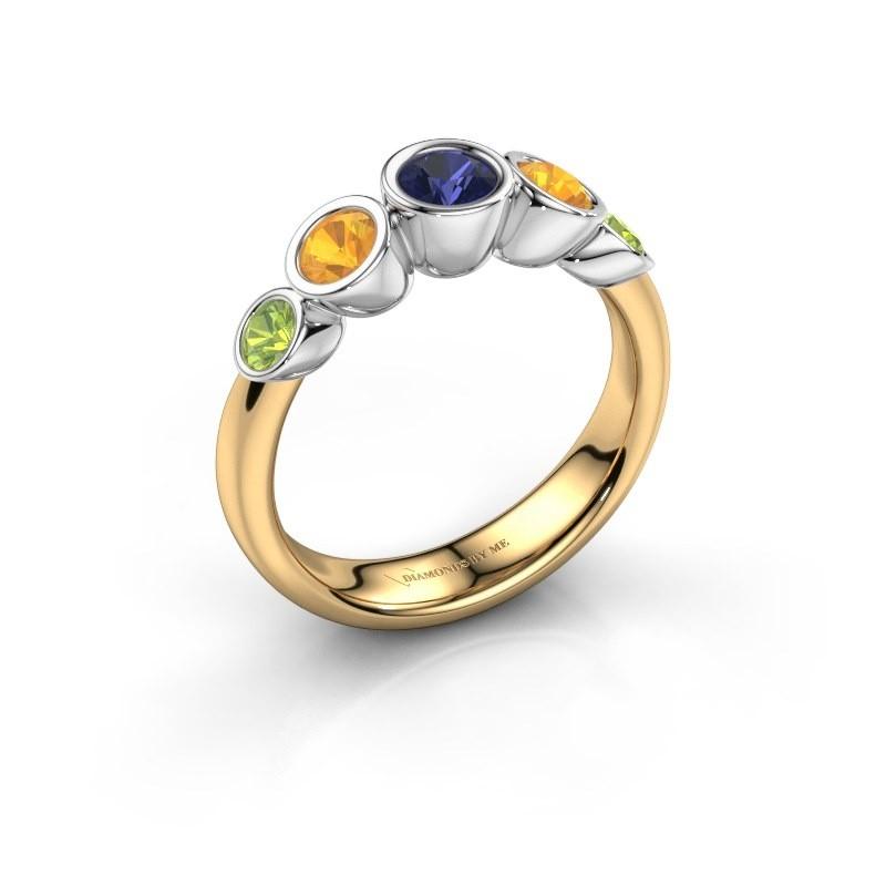 Ring Lizz 585 goud saffier 4 mm