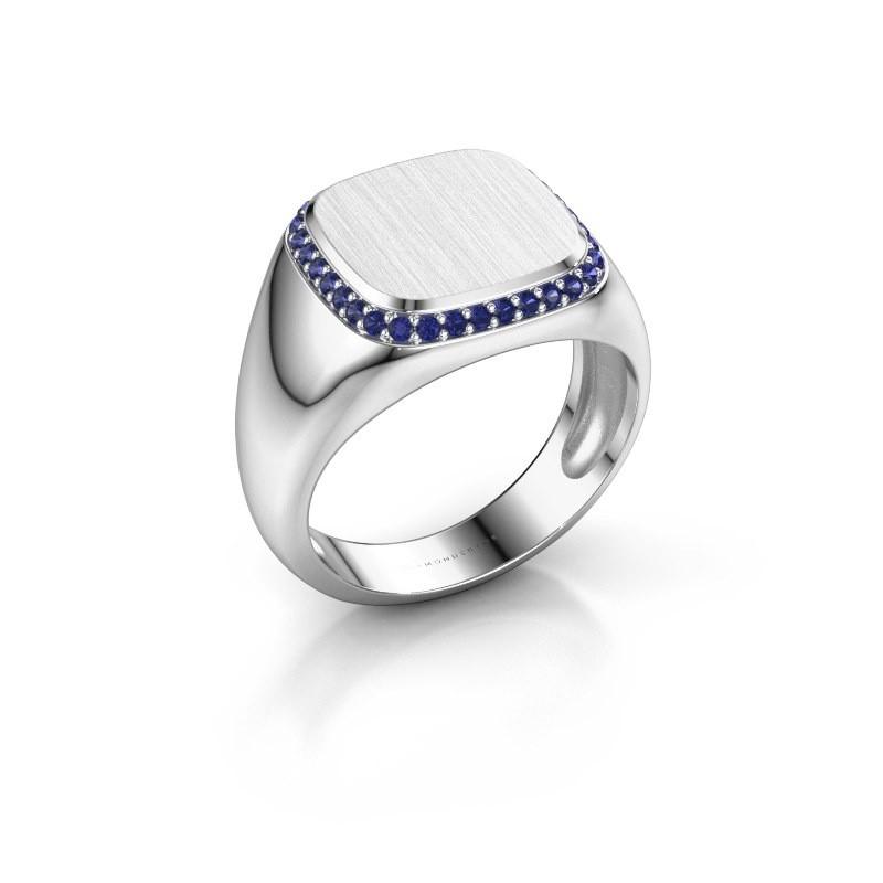 Heren ring Jesse 1 950 platina saffier 1.2 mm