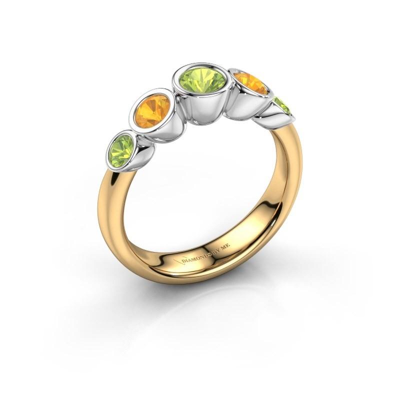 Ring Lizz 585 gold peridot 4 mm