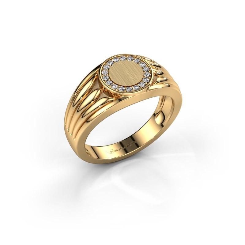 Pinkring Jacobus 585 goud lab-grown diamant 0.135 crt