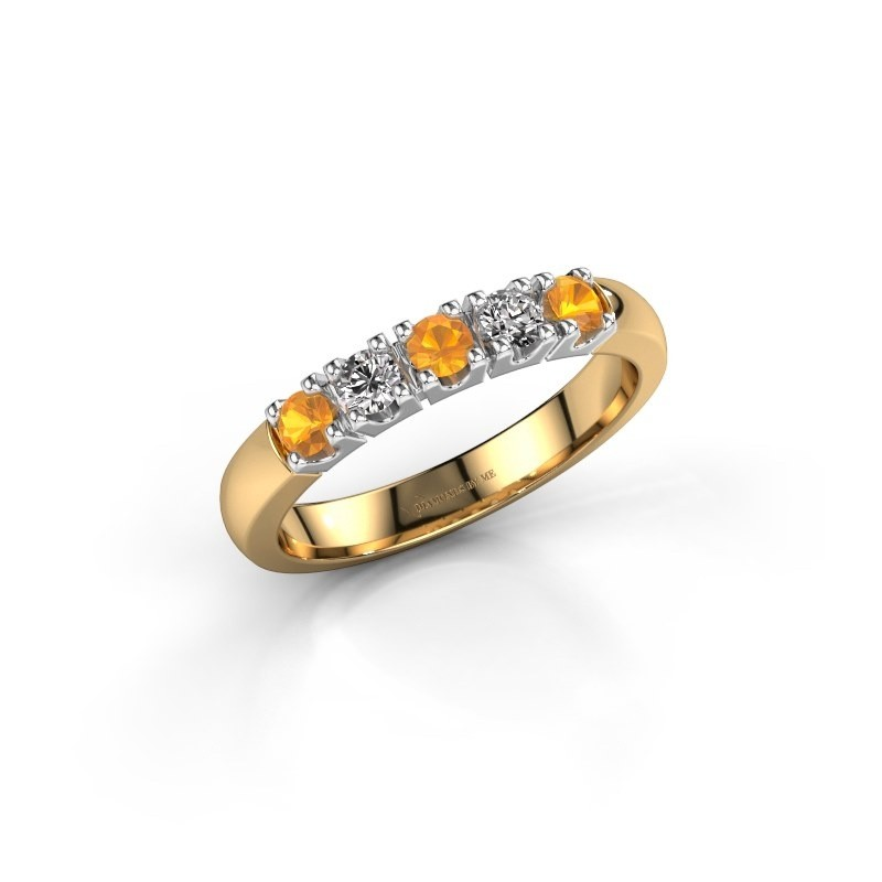 Engagement ring Rianne 5 585 gold citrin 2.7 mm
