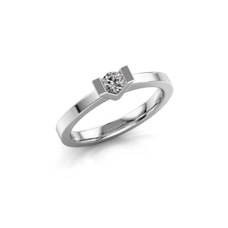 Aanzoeksring Sherley 1 950 platina lab-grown diamant 0.15 crt