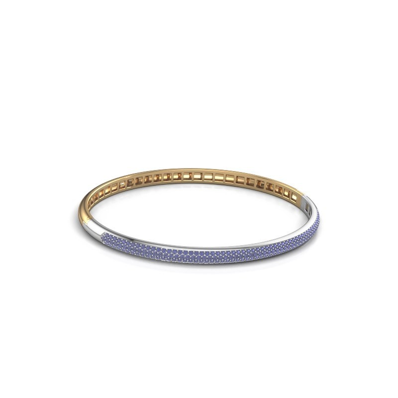 Slavenarmband Emely 4mm 585 goud saffier 1.1 mm