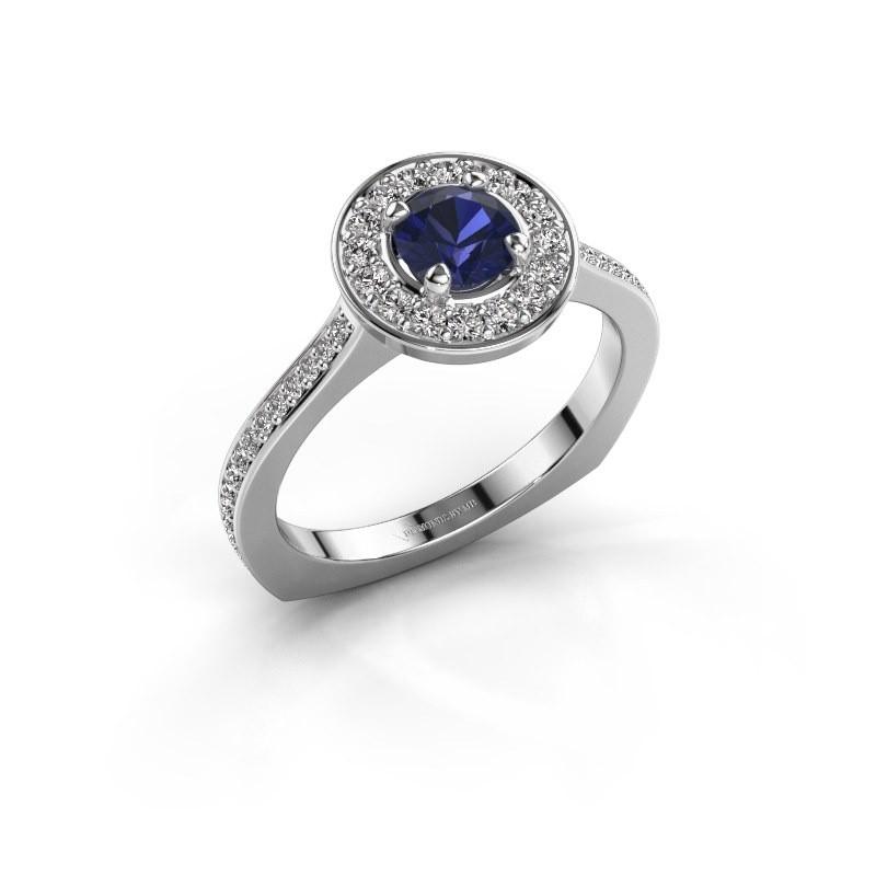 Ring Kanisha 2 925 zilver saffier 5 mm