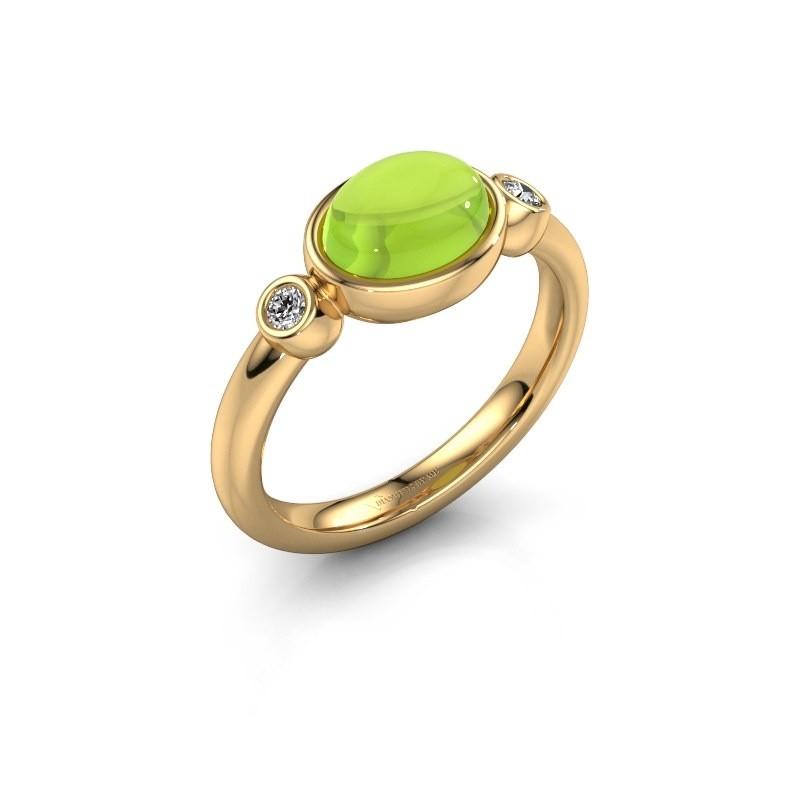 Ring Liane 585 goud peridoot 8x6 mm